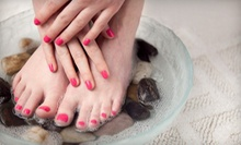 One or Three Spa Mani-Pedis at Cashmere Salon and Day Spa (Up to 58% Off)