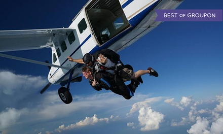 Skydiving Tandem Jump and AFF Ground School for One, Two, or Three  at Skydive Alabama (Up to 58% Off)