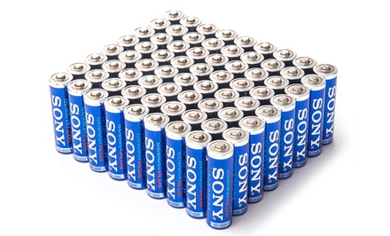 72-Pack of Sony Stamina Plus Alkaline AA or AAA Batteries