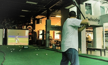 $25 for Batting Cages, Food, and Rock Climbing at Artistic Stitch ($60 Value)