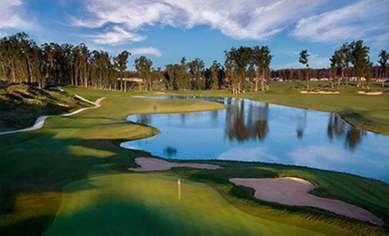 12- or 18-Hole Round of Golf with Cart Rental and One-Hour Lesson for Two at Monarch Dunes Golf Club (Up to 68% Off)