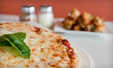 Pizza Meal with Two Side Salads or One Appetizer, or $10 for $20 Worth of Pub Food at Club 33