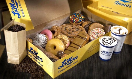 Donuts and Coffee at LaMar's Donuts (Up to 50% Off). Three Options Available.