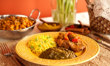 Indian Dinner Fare for Two or Four at Prince of India Restaurant (Up to 50% Off)