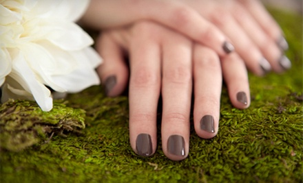 Spa Pedicure with Hand Scrub or One or Two Gel Manicures with Foot Scrubs at Trinity Salon & Spa (Up to 51% Off)