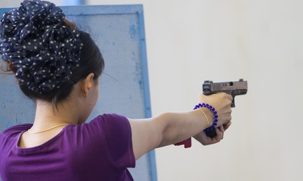 $48 for a Shooting-Range Package for Two with Handgun Rentals at Caswells Shooting Range ($123 Value)