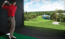Simulated Golf for One or Four at City Tee Time (Up to 63% Off). Four Options Available.