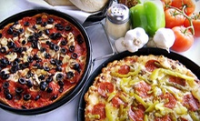 Pizza and Italian Cuisine at Sanfratellos Pizza (Half Off). Two Options Available. 