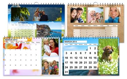 1, 2 ou 3 calendários de parede A4 personalizados desde 4,95 € (até 78% de desconto)