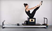 1 Private Pilates Class with 4 or 11 Group  Equipment Classes at Pilates Plus (Up to 52% Off)