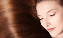 Keratin Straightening Treatment or a Women's Haircut with Full Highlights at Salon de Vive (Up to 56% Off)