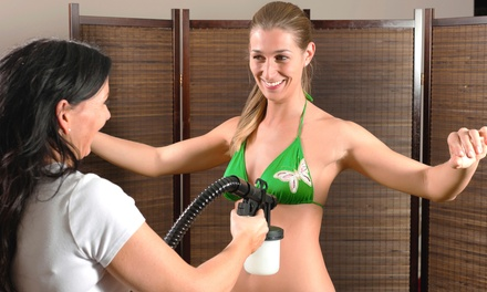 1, 3, or 5 Spray Tans or 10-Person Spray-Tan Party at Tanning Revolution (Up to 60% Off)