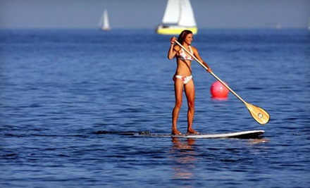 Two-Hour Standup-Paddleboard Rental, or Venice of America Lesson and Tour at Sunrise Paddleboards (Up to 63% Off)