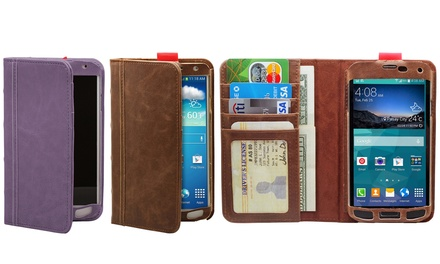 Aduro BookCase Folio and Wallet for Samsung Galaxy S4, S5, or Note 3