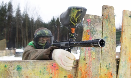 $25 for All-Day Paintball Package with Equipment Rental, Air, and 500 Paintballs ($44 Value)
