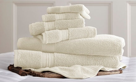 6-Piece 650 GSM 100% Egyptian Cotton Luxury Spa Collection Towel Set