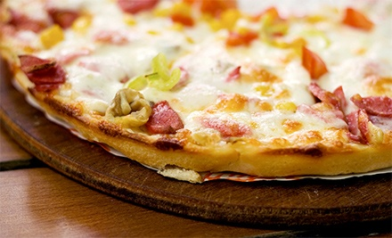 Pizza at Track Town Pizza (Up to 39% Off). Two Options Available.