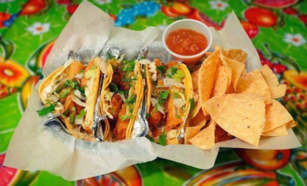 Mexican Cuisine at Blue Coast Burrito (Half Off). Two Options Available.