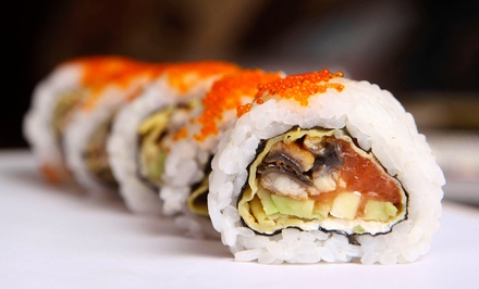 Two Groupons, Each Good for Sushi and Asian Cuisine for Dinner for Two or Lunch at Sakura (50% Off)