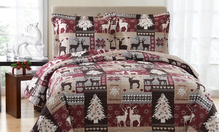 groupon daily deal - 3-Piece Quilt Sets.