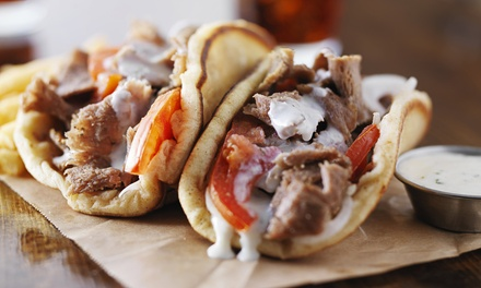 Three or Five Groupons, Each Good for $8 Worth of Food at Gyros Express (Up to 45% Off)