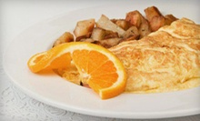 $15 for an Omelet Breakfast with Fruit and Drinks for Two at French Bakery Cafe ($31.70 Value)