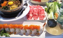 Sushi Dinner for Two or $12 for $24 Worth of Pan-Asian Dinner Cuisine at Shabu-Ya Restaurant