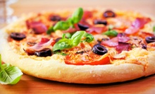 Specialty Pizzas with Optional Salads or Sides at Shawarma Knight (Up to 48% Off). Three Options Available.