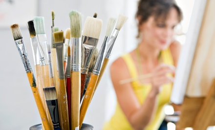 Paint and Sip Class for Two or Four with Canvas and Paint at Wine from the Heart - Classes (45% Off)