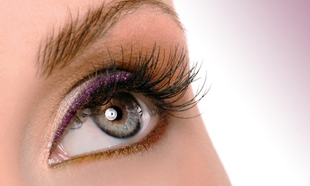 Full Set of Eyelash Extensions with Optional Two Week Touchup Session at V Lashed (Up to 58% Off)