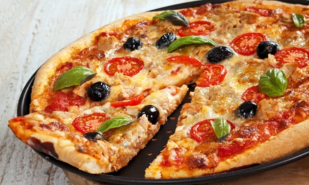 Pizza, Subs, and Breakfast at Hot Space Pizza Bar & Grill (50% Off). Three Options Available.