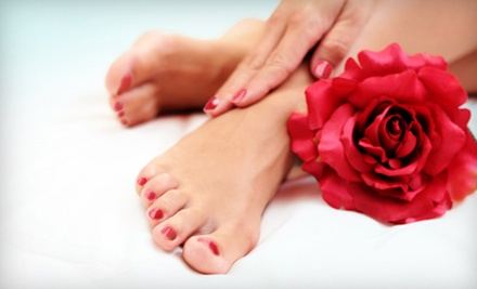 One or Two Shellac Mani-Pedis at Jealousy Nails & Spa (Up to 57% Off)