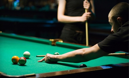 Two Lunch Entrees or One Hour of Billiards and Bar Food at Corner Pocket (Up to Half Off). Three Options Available.