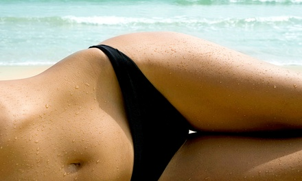 One or Three Brazilian Waxes with Glasses of Wine at HoochiCoochi Wax Studio (Up to 42% Off)