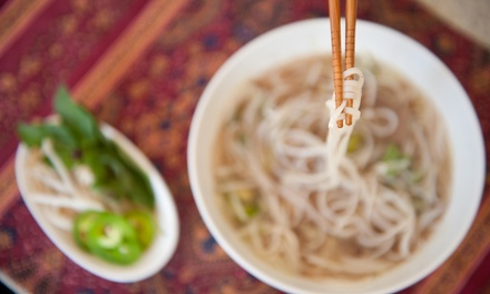 Vietnamese Food for Two or Four at Noodle Soup Restaurant (Up to 40% Off)