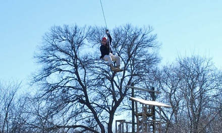 Zipline Tour or Entry to the Great Obstacle Race with 1 Zipline Cable for 2 at DFW Adventure Park (45% Off)