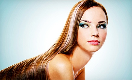 Haircut and Blowdry with Optional Full Highlights at Salon Turquoise (Up to 53% Off)
