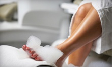 One or Three Basic Pedicures or Mani-Pedis at The Wax Pot (Up to 53% Off)
