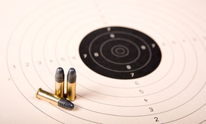 Shooting-range Package With Safety Instruction, Gun, Targets, And Ammo For 2, 4, Or 6 At The Gun Range