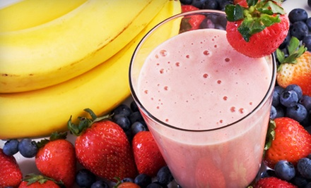 $12 for Five 16-Ounce Organic Fruit Smoothies Vouchers at The Topeka Juice Garden ($24.75 Value)