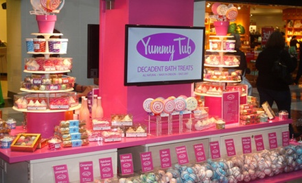 $7.50 for $15 Worth of Bath Bombs, Salts, Scrubs, and Lotions at Yummy Tub