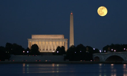 Monuments by Moonlight, DJ Nights, or Happy Hour Cruise for One, Two, or Four from DC Cruises (Up to 51% Off)