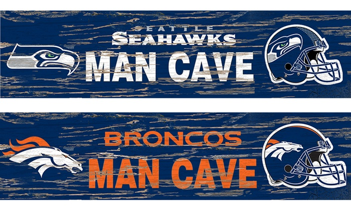 Nfl Man Cave Street Signs : Distressed nfl man cave sign groupon