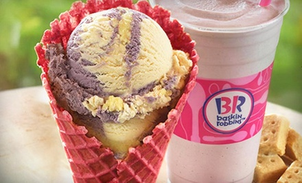 $15 for Five Groupons, Each Good for $6 Worth of Ice Cream at Baskin-Robbins ($30 Total Value)