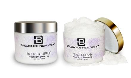 Brilliance New YorkMoonlight Serenade Skincare Bundle with Body Soufflé and Salt Scrub