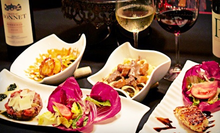 French Dinner for Two with Salads, Entrees, and Unlimited Wine (Up to $95.80 Value)