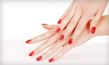 One or Two Shellac Manicures at The Cutting Edge Styling Studio & Spa (Up to 55% Off)