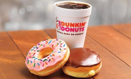 One or Three Groupons, Each Good for $10 Worth of Donuts and Coffee at Dunkin Donuts (Up to 50% Off)
