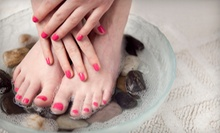 Shellac Mani-Pedi with Paraffin Dip, Mani-Pedi for Two with Champagne, or Mani-Pedi at Air Salon & Spa (Up to 55% Off)