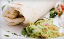 $12 for $25 Worth of California-Style Mexican Food and Drinks for Two or More at The Burrito Company